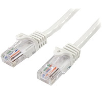 Cat5e Ethernet Patch Cable with Snagless RJ45 Connectors - 10 m, White