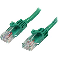 Cat5e Patch Cable with Snagless RJ45 Connectors - 10 ft, Green