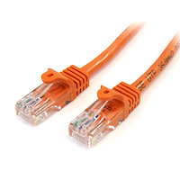 Cat5e Patch Cable with Snagless RJ45 Connectors - 15 ft, Orange