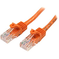 Cat5e Ethernet netwerkkabel met snagless RJ45 connectors - UTP kabel 0,5m oranje