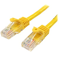 Cat5e Ethernet Patch Cable with Snagless RJ45 Connectors - 0.5 m, Yellow