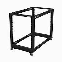 "15U 19"" Open Frame Server Rack - 4 Post Adjustable Depth 23-41"" Mobile - Free Standing Rolling Network/Computer Equipment Data Rack - Dell PowerEdge HP ProLiant ThinkServer (4POSTRACK15U)"