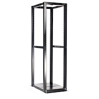 "42U Open Frame Server Rack - 994.5lbs capacity - 4 Post Adjustable Depth (22"" to 40"") Network Equipment Rack"