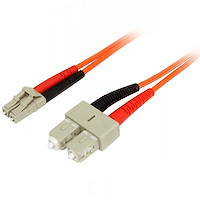 Fiber Optic Cable - Multimode Duplex 50/125 - LSZH - LC/SC - 1 m