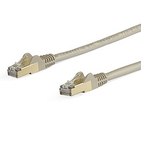 5m CAT6a Ethernet Cable - 10 Gigabit Shielded Snagless RJ45 100W PoE Patch Cord - 10GbE STP Network Cable w/Strain Relief - Grey Fluke Tested/Wiring is UL Certified/TIA