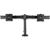 Desk-mount Dual-Monitor Arm - Cross Bar - Grommet/Desk Clamp Mount