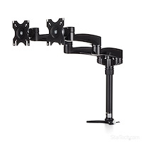 Desk-Mount Dual Monitor Arm - Articulating