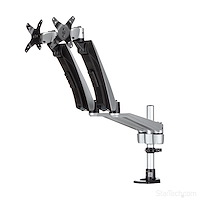 Desk-Mount Dual Monitor Arm - Full Motion Articulating - Premium