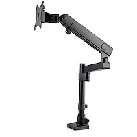"""Desk Mount Monitor Arm with 2x USB 3.0 ports - Pole Mount Full Motion Single Arm Monitor Mount for up to 34"""" VESA Display - Ergonomic Articulating Arm - Desk Clamp/Grommet"""