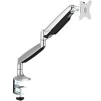 Single Desk-Mount Monitor Arm - Full Motion - Articulating - Silver