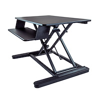 "Sit Stand Desk Converter with Keyboard Tray - Large 35"" x 21"" Surface - Height Adjustable Ergonomic Desktop/Tabletop Standing Workstation - Holds 2 Monitors - Pre-Assembled"