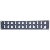 24 Port 2U Rackmount Blank Patch Panel for Keystone Jacks