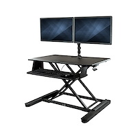 "Dual Monitor Sit-Stand Desk Converter - 35"" Wide Work Surface"