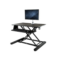 "Sit-Stand Desk Converter with Monitor Arm - 35"" Wide Work Surface - For up to 30"" Monitor"