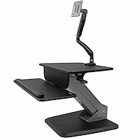 Sit-to-stand Workstation with Articulating Monitor Arm