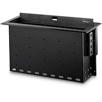 Dual-Module Conference Table Connectivity Box with Cable Organizer
