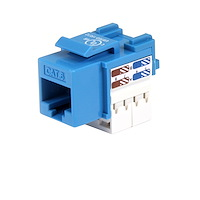 Cat 6 RJ45 Keystone Jack Blue - 110 Type
