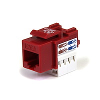 110 Punch Type Category 6 Keystone Jack - Red