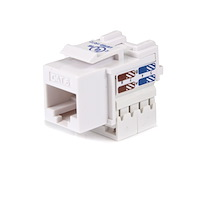 Cat6 RJ45 Keystone Jack White - 110 Type