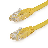 10ft CAT6 Ethernet Cable - Yellow CAT 6 Gigabit Ethernet Wire -650MHz 100W PoE RJ45 UTP Molded Network/Patch Cord w/Strain Relief/Fluke Tested/Wiring is UL Certified/TIA