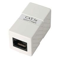 Gabinete de Empalme Acoplador Cable Cat5 Ethernet UTP - 2x Hembra RJ45 - Blanco