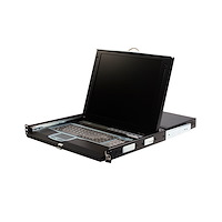 """1U 17"""" Rackmount LCD Console with Integrated 16 Port IP KVM Switch"""