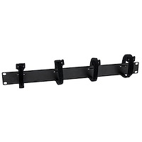 Cable Management Panel with Hook and Loop Strips for Server Racks - 1U
