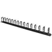 Vertical Cable Organizer with D-Ring Hooks - 0U - 3 ft.