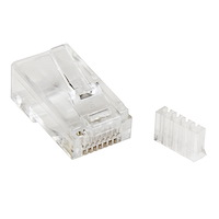 Cat 6 RJ45 Modular Plug for Solid Wire - 50 Pack