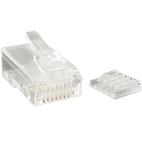 Cat 6 RJ45 Stranded Modular Plug Connector - 50 Pack
