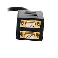 DVI-I Analog to 2x VGA Video Splitter Cable - M/F