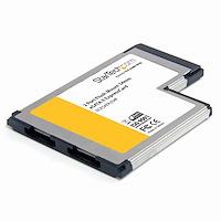 2 Port Flush Mount eSATA II ExpressCard Controller Adapterkarte