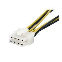 4-Pin to 8-Pin EPS Power Adapter with LP4 - F/M