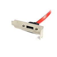 Low Profile Latching SATA to eSATA Plate Adapter