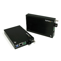 10/100 Mbit Ethernet Single-Mode WDM Glasvezel Converter Set SC 20km