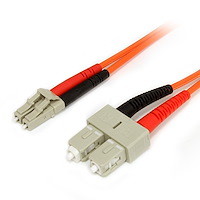 Fiber Optic Cable - Multimode Duplex 62.5/125 - LSZH - LC/SC - 3 m