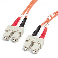 15m Multimode 62.5/125 Duplex Fiber Patch Cable SC-SC