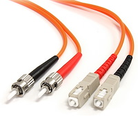 Fiber Optic Cable - Multimode Duplex 62.5/125 - LSZH - ST/SC - 3 m