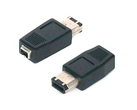 IEEE-1394 FireWire Adapter 4 Pin - 6 Pin  F/M
