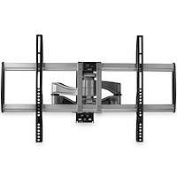 "Full Motion TV Wall Mount - Heavy Duty Articulating TV Wall Mount Bracket for 32"" to 75"" (165lb/75kg) VESA Display - Universal Adjustable Tilt/Swivel Flat Screen Arm - Silver"