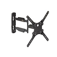 Full Motion TV Wall Mount - 32-55 inch (77lb/35kg) VESA Displays - Low Profile Universal Flat Screen TV Wall Mount - Heavy Duty Adjustable Tilt/Swivel Articulating Arm Bracket