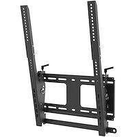 "Portrait/Vertical TV Wall Mount - Heavy Duty TV Wall Mount - 40-55"" VESA Display (110lb/50kg)- Tilting Low Profile Television Digital Signage Mount with Lockable Security Bar"