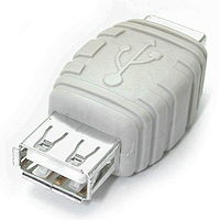 USB A to USB B Cable Adapter F/F
