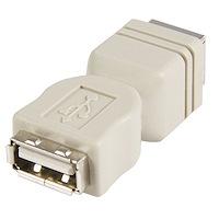 Changeur de genre USB - Adaptateur USB A vers B - F/F - Beige