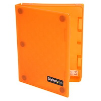 2.5in Anti-Static Hard Drive Protector Case - Orange (3pk)