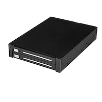 "Dual-bay 2.5"" SATA SSD / HDD mobiel rack voor 3.5"" Bay - trayless backplane - RAID"