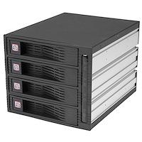 """Rack amovible 3 x 5,25"""" sans tiroir pour 4 disques durs 3,5"""" - Face arrière"""