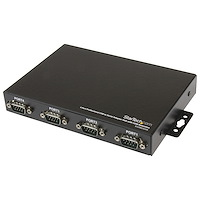 4 Port Wall Mountable USB to Serial Adapter Hub with COM Retention