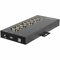 8 Port Serial Hub USB to RS232/RS485/RS422 Adapter - Industrial USB 2.0 to DB9 Serial Converter Hub - IP30 Rated - Din Rail Mountable Metal Serial Hub - 15kV ESD Protection