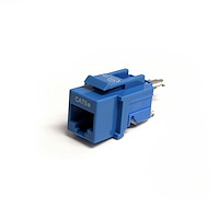 Cat5e Modular Keystone Jack Blue - Tool-Less
